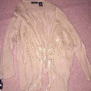 Mix It size 2X cream pull over sweater!